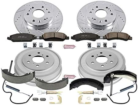 Rotor Drum and Shoe Kits Power Stop Front /& Rear KOE15238DK Autospecialty Daily Driver Pad