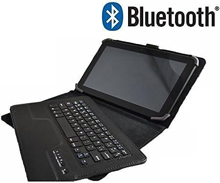 Funda con Teclado en Español (Letra Ñ Incluída) con Bluetooth Extraíble para Tablet Samsung Galaxy Tab 2 / Tab 3 / Tab 4 de 10.1
