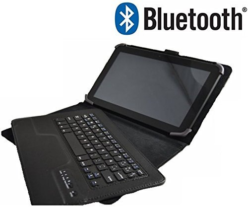 Funda con Teclado Bluetooth Extraíble para Tablet Samsung Galaxy Tab 2 / Tab 3 / Tab 4 de 10.1