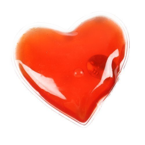 eBuyGB Reusable Gel Hand Warmer Heat Pack - Instant Heating (Red Heart)