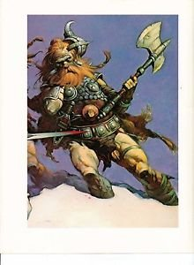 Frazetta 1975 Full Color Plate The Snow Giants Details by Frank Fantastic Print