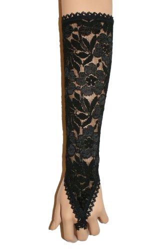 Gants Gothique, fingerless gloves, longueur 32 cm