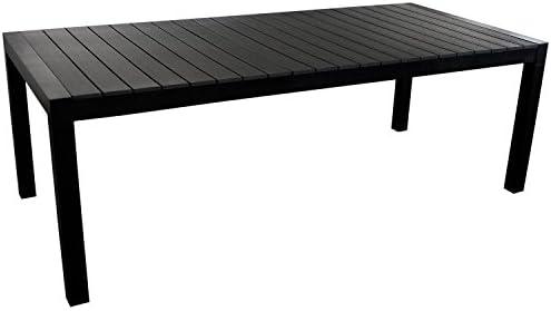 Multistore 2002 XXL - Mesa de jardín (3 longitudes diferentes, extensible, 224/284/344 x 100 cm, aluminio, madera sintética, hasta 12 personas/mesa de terraza, mesa extensible), color negro: Amazon.es: Hogar
