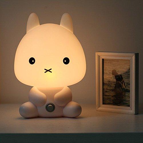 Coffled Baby Kids Bedroom LED Rabbit Night Light Bunny Cartoon Animal Desk Table Lamp Gift by COFFLED