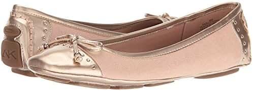 AK Anne Klein Sport Women's Buttons Fabric Ballet Flat
