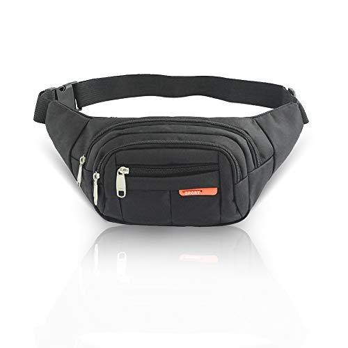 Mousand Fanny Pack for Men Women Sport Waterproof Waist Pack Adjustable Waist Bags Phone Holder for Outdoors Workout Traveling, Running