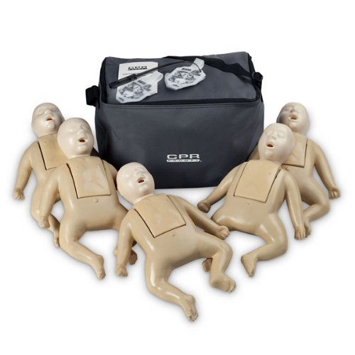 Tpak 50T Full Body Tan Infant Manikin Cpr Prompt Training And Practice (5-Pack) by Nasco