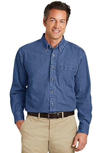 Port Authority; Heavyweight Denim Shirt. S100-simple