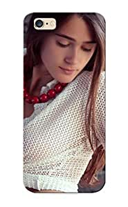 Tpu Case Cover Design Compatible For Iphone 6 Plus/ Hot Case/ Brunettes Women Models Femjoy Magazine Open Shirt Brick Wall Looking Down Raia Kimberly Kurzendoerfer