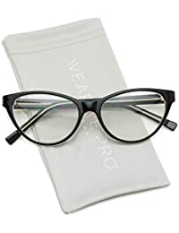Clear Lens Cat Eye Glasses for Women