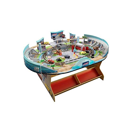 Disney Pixar Cars 3 75-Pieces Florida International Speedway with Lightning McQueen, JakcsonStorm and the Rest of the Gang, MORE than 21 Feet of Track, Built-in Storage Bins ()