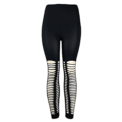 URIBAKE ? Fashion Women's Leggings Holes Solid Workout Fitness Sports Gym Running Yoga Athletic Pants
