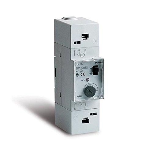 Perry - Interruptor temporizador escalera módulo -2 din: Amazon.es ...