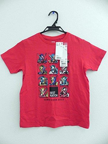 UNIQLO ユニクロ UT 仮面ライダー ビルド 半袖 Tシャツ 130cm 赤 タグ付きの商品画像