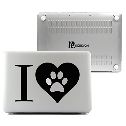 Puppy Volleyball Girl (PhoneTatoos - I Love Puppy Clear/ Transparent Plastic Hard Case Cover for Macbook Pro RETINA 13'' (Model: A1502 or A1425))