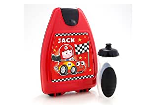 Children's personalised Lunch Box Car Red