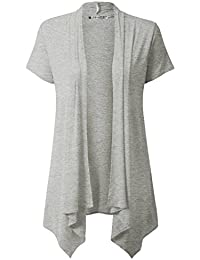Womens Lightweight Draped Opent Front Cardigan (Plus Size Available)