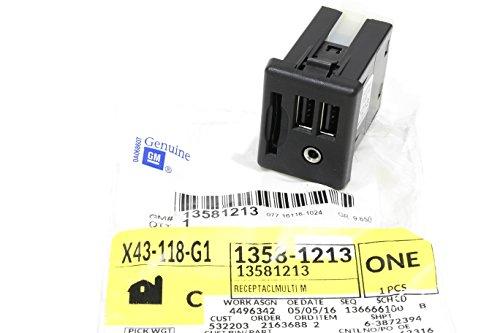 Cadillac ELR CTS SRX XTS Center Console USB SD Card Audio Input Jacks 13581213