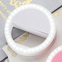 Ring ışık kamera [Akkus] selfie için LED kamera ışık [33LED lamba] MXN Kreis iPhone iPad Sumsung Galaxy fotoğraf Cep telefonları için