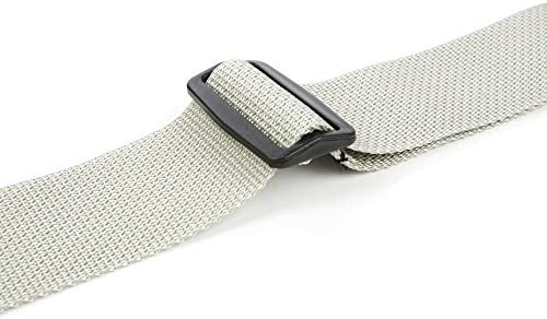 D/'Andrea 1355 SILVER Polyweb Guitar Strap with Ace Lock Silver