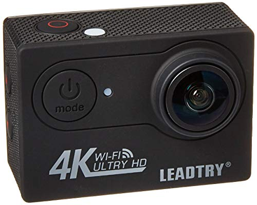 LeadTry HP7R Full 4K HD Action Camera Wifi, Mini 12MP Underwater Photography Cam, 100Ft Waterproof Sport Video Camcorders, 170Deg Wide Angle Lens Recording DV with 2 Batteries (1350mAh) 26 Accessories LEADTRY