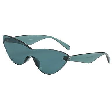 Occhiali Sole Retrò Senza Montatura Confortevole UV 400 Accessorio Moda Per