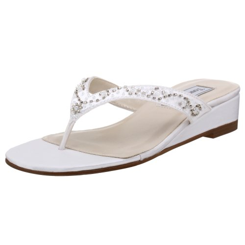 - Touch Ups Women's Jinni Dyeable Sandal,White,9 W