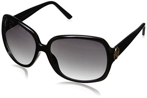 Adrienne Vittadini Women's AV1007CE-001 Glam Square Sunglasses, Black, 59 - Vittadini Sunglasses Adrienne