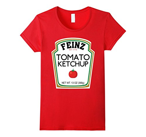 Womens Ketchup Matching Best Friend Halloween Costume T-Shirt XL (Matching Best Friend Halloween Costumes)