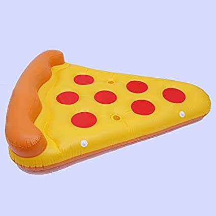 Amazon.com: Giant Inflatable Pepperoni Pizza Slice Pool Raft ...