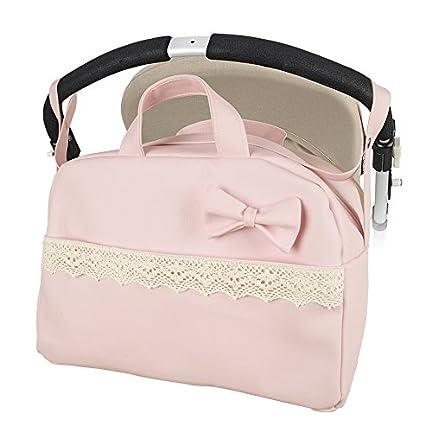 "Bolso Maternal lactancia para capazo carrito bebe""danielstore"" Color rosa (Penelope) +"