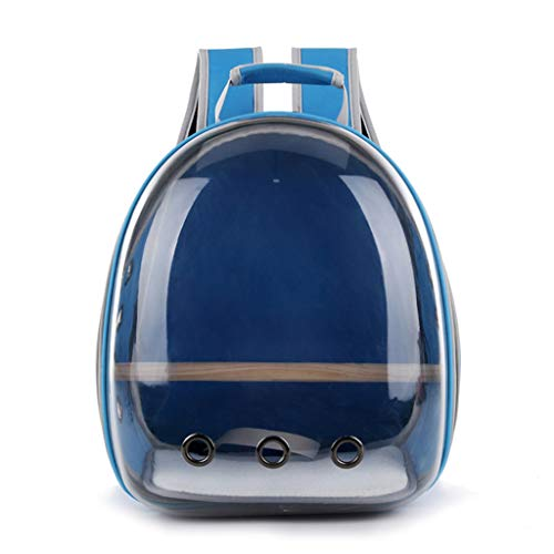Fmingdou Pet Parrot Carrier Bird Travel Bag Space Capsule Transparent Backpack Breathable 360° Sightseeing