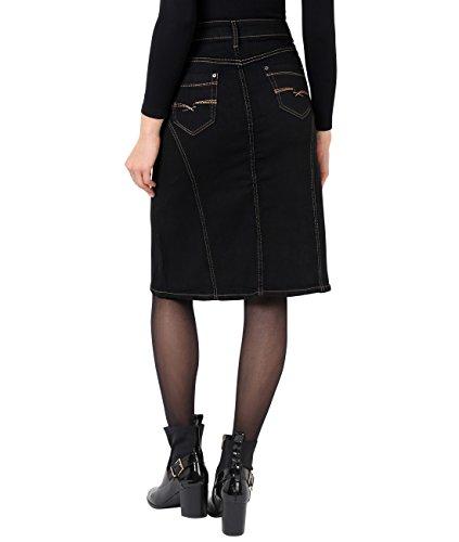 2117 Noir Courte Jean Jupe Femme Mode KRISP qYwgPRB