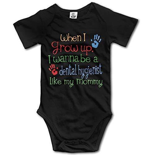 (Dentist Like Mommy,Baby Boys' and Girl's Bodysuits Infant Romper Jumpsuit Short-Sleeve Toddler Onesie Premium)