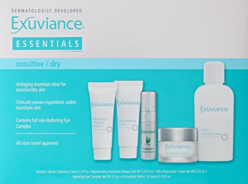 Exuviance Essentials Sensitive Skin Care Travel Collection, 5 Count