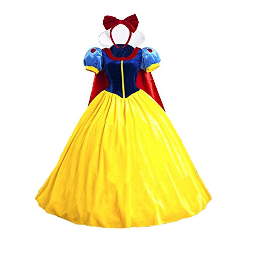 baycon Halloween Classic Deluxe Princess Costume Adult Queen Fairytale Dress Role Cosplay for Adult Small -