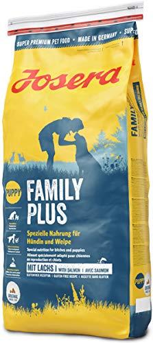 JOSERA Family Plus (1 x 15 kg) | Hundefutter für eine optimale Versorgung von Hündin und Welpen | Super Premium…