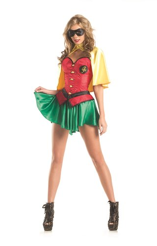 Sexy Female Robin Costumes - Be Wicked Women's 5 Piece Miss Robin, As Shown, Large/X-Large