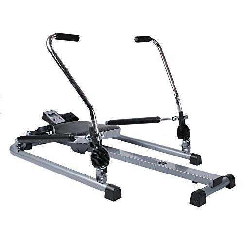 kaidee Exercise Rowing Machine Rower Glider Cardio Fitness Equipment Work Out Home Gym Stamina Body Home Monitor Trac Magnetic Bodytrac LCD Row