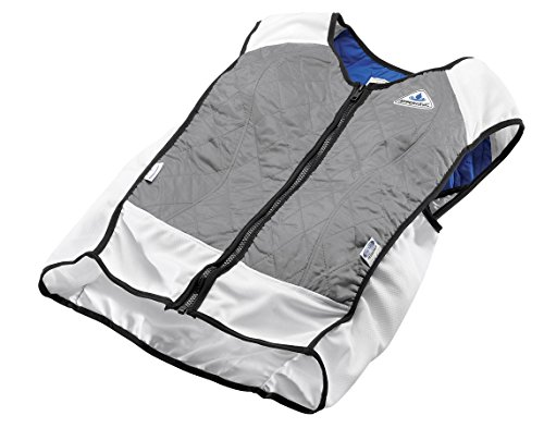 photo Wallpaper of TechKewl-TechKewl Hybrid Cooling Vest, Silver, X Large-Silver
