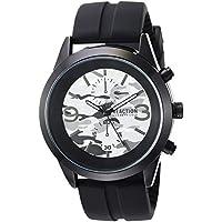 Kenneth Cole REACTION Men's 'Dress Sport' Quartz Metal and Silicone Watch, Color:Black (Model: RK50546001)