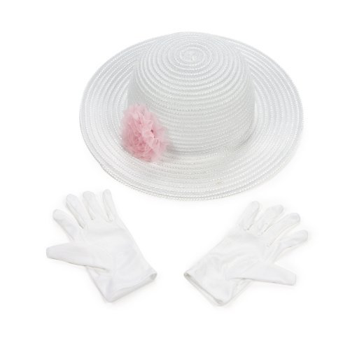 [Fun Express Polyester Tea Party Hat Gloves Set] (Unique Girls Costumes)