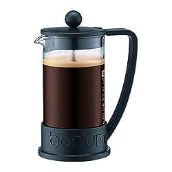 Bodum Brazil French Press 1-Liter 8-Cup Coffee Maker, 34-Ounce, Black by Bodum
