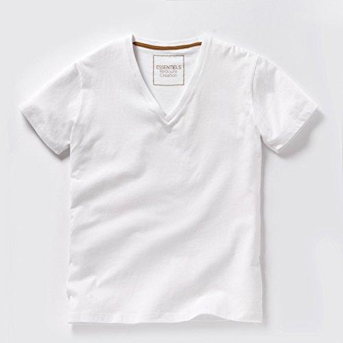 La Redoute Collections Uomo Tshirt Con Scollo A V In Cotone Taglia 5 Bianco