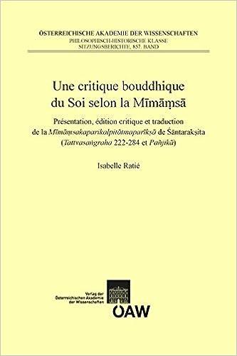 Une Critique Bouddhique Du Soi Selon La Mimamsa