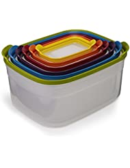 joseph joseph nest storage plastic food storage containers set with lids airtight microwave safe 12piece