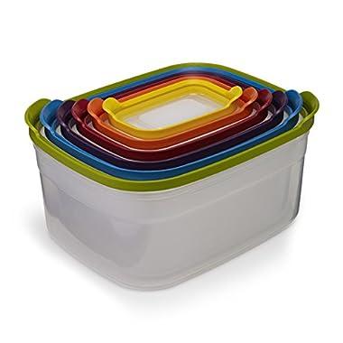 Joseph Joseph 81009 Nest Storage Plastic Food Storage Containers Set with Lids Airtight Microwave Safe, 12-Piece