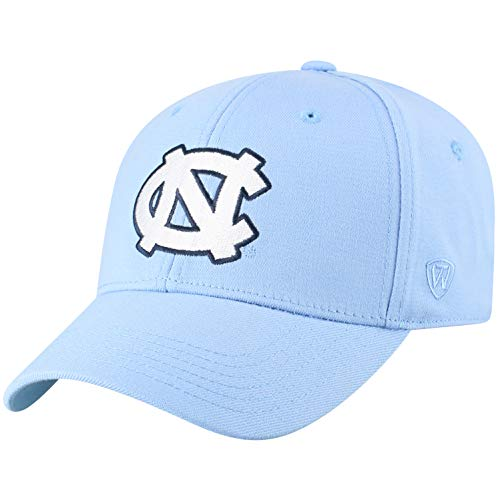Top of the World North Carolina Tar Heels Men's Memory Fit Hat Icon, Blue, One Fit