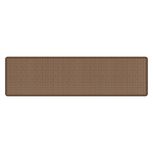 "NewLife by GelPro Anti-Fatigue Designer Comfort Kitchen Floor Mat, 30x108'', Tweed Light Walnut Stain Resistant Surface with 3/4"" Thick Ergo-foam Core for Health and Wellness by NewLife by GelPro"
