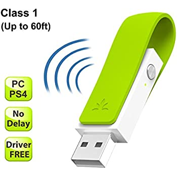 Avantree aptX Low Latency LONG RANGE Bluetooth 4.1 Adapter for PC, Driver-Free Wireless USB Audio Dongle Transmitter for PS4 Nintendo Switch Windows 10 7 Linux Mac, Movie & Games [2 Year Warranty]